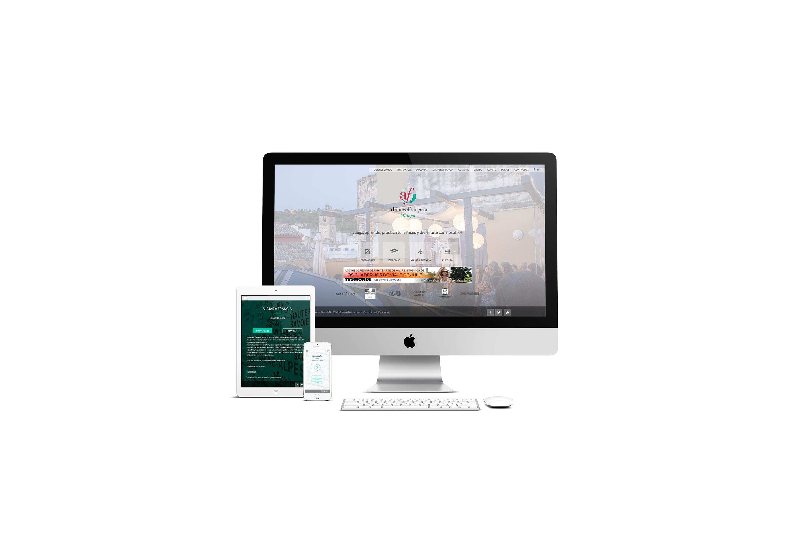 web Alianza Francesa Málaga